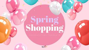 Spring Shopping (쇼핑) 파워포인트 디자인