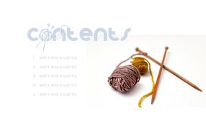 Knitting 뜨개질 테마 PPT 템플릿