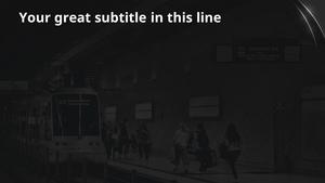흑백 지하철 (교통) 피피티 배경 - 와이드