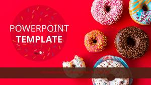 다양한 색감의 도넛 (음식) 파워포인트 배경화면