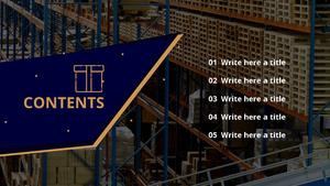 택배 물류 센터 파워포인트 디자인 (16:9)