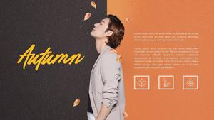 가을 남성복 PPT 배경 템플릿 (쇼핑, 패션)