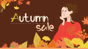 가을 세일 (Autumn Sale) 일러스트 배경 템플릿