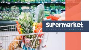 슈퍼마켓 (유통) PPT 배경 템플릿