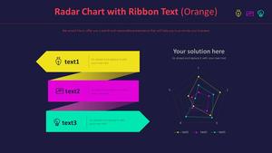 표식이 있는 방사형 차트 (오렌지)