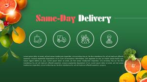 신선 배송 Fresh Delivery (물류, 유통) 피피티 배경