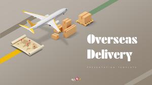 해외 배송 (Delivery) 피피티 템플릿