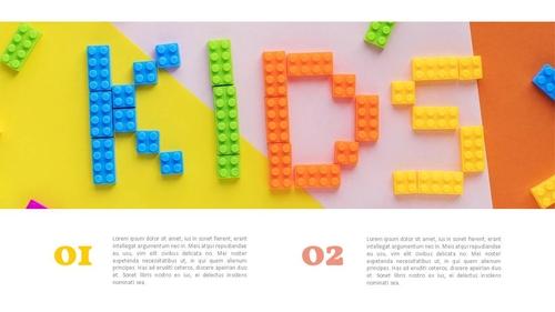 아이들의 장난감 PPT 표지 (아동,유아) - 와이드 - 섬네일 3page