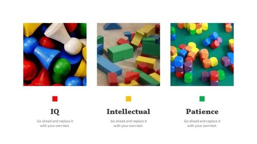 아이들의 장난감 PPT 표지 (아동,유아) - 와이드 - 섬네일 4page