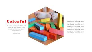 아이들의 장난감 PPT 표지 (아동,유아) - 와이드 #5