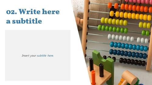 아이들의 장난감 PPT 표지 (아동,유아) - 와이드 - 섬네일 7page
