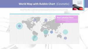거품형 차트 : 세계지도 (립스틱)