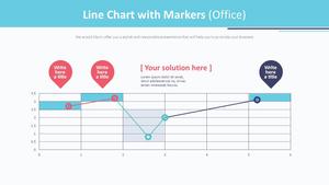 직선 및 표식이 있는 분산형 차트 (사무실)