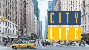 City Life (생활) PPT 배경 템플릿