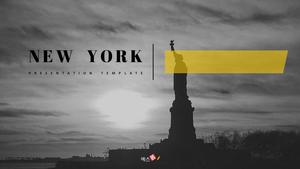 New York (여행) PPT 표지 - 와이드