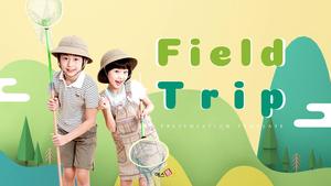 어린이 견학 (아동, 자연) PPT 배경템플릿