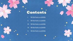 봄 축제 (Spring Festival) 일러스트 배경 템플릿