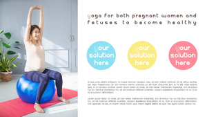 임산부 관리 (가족, 생활) PPT 배경템플릿