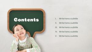 어린이 교육 (Child Education) 피피티 배경