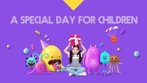 즐거운 어린이날 테마 PPT 표지