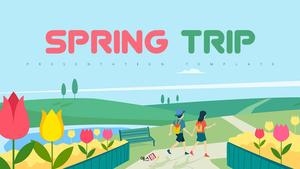 봄 여행 (Spring Trip) PPT 배경템플릿