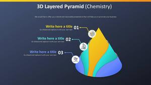 3D 겹친 피라미드 Diagram (화학)