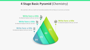 4 Stage 기본 피라미드형 다이어그램 (화학)