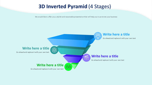 3D 역피라미드 4 Stages 다이어그램 (영화제작)