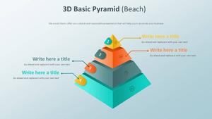 3D 베이직 피라미드 Diagram (해변)