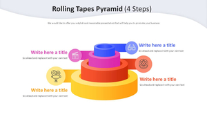 테이프 4 Steps 피라미드 다이어그램 (영화제작)