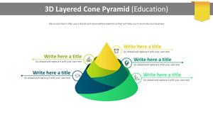 3D 레이어드 원뿔 Pyramid (교육)