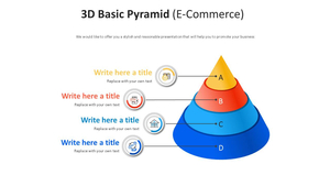3D 기본 피라미드형 Smart Art (전자상거래)
