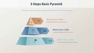 3 Steps 기본 피라미드형 다이어그램