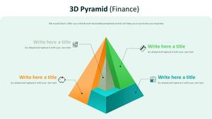 3D 피라미드형 Diagram (금융)