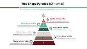 트리모양 피라미드 다이어그램 (크리스마스)