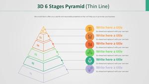 3D 6단계 피라미드 Diagram (얇은선)