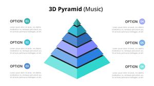 3D 피라미드형 다이어그램 (Music)