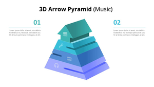3D 화살표 피라미드 Diagram (Music)