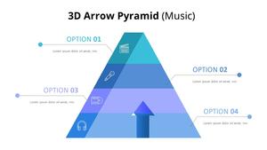 3D Arrow Pyramid 다이어그램 (Music)