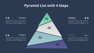 4단계 피라미드 다이어그램