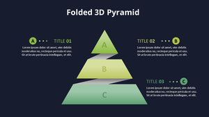 Folded 3D 피라미드 다이어그램 (Coffee Shop)