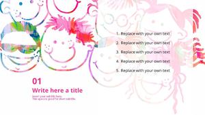 어린이 미술 테마 Powerpoint 배경
