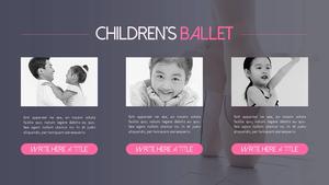 어린이 발레 (아동) 피피티 배경 템플릿