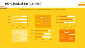 100% 기준 가로막대형 Chart (페인팅)