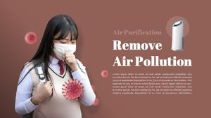 공기청정기 (바이러스, 미세먼지) PPT 배경
