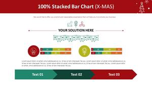 100% 누적 가로막대형 Chart (X-MAS)