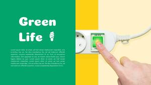 Green Life (에코, 환경 에너지) 배경 템플릿
