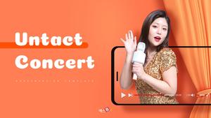 비대면 언택트 콘서트 (인물, 방송) PPT 배경