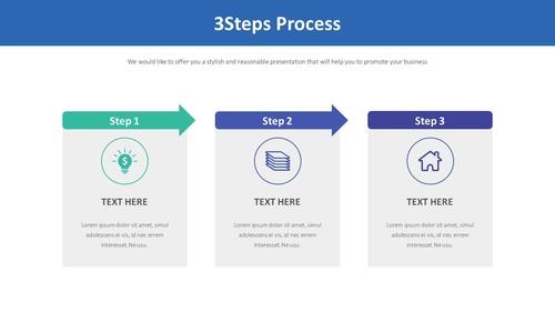 3Steps 아이콘 설명형 Smartart