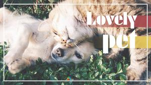 Lovely Pet (반려동물) 피피티 배경 템플릿
